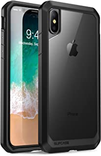 SupCase iPhone X, iPhone Xs Case, Unicorn Beetle Series Premium Hybrid Protective Frost Clear Case for Apple iPhone X 2017,iPhone Xs 5.8 Inch 2018 (Black)