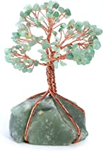 Jovivi Natural Green Aventurine Tree Money Crystal Quartz Money Tree Feng Shui Tree of Life Ornament Reiki Crystals Office Table Decoration for Living Room Wealth and Luck