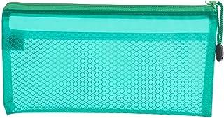 مقلمة قماشية بسحاب ومقاس 12×23 سم - أخضر