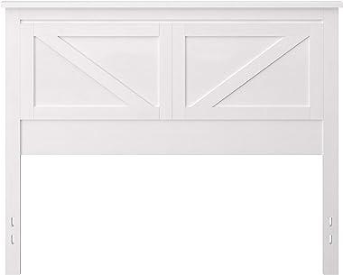 Farmhouse Style Wood Panel Headboard in Gloss White - Full Size