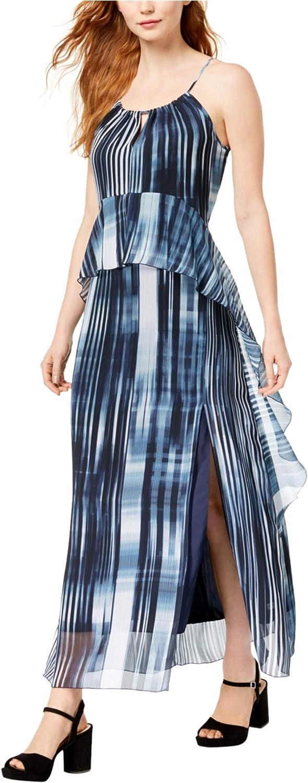 Bar Iii Womens Ruffled ALine Maxi Dress