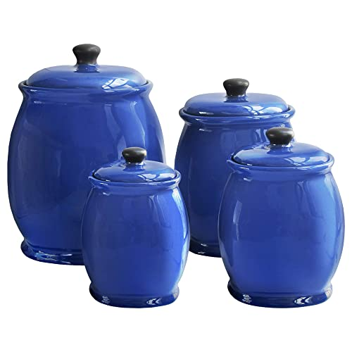 Blue Kitchen Canisters: Amazon.com