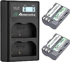 EN-EL3E Powerextra 2 x Battery & Dual LCD Charger Compatible with Nikon EN-EL3E Nikon D50, D70, D70s, D80, D90, D100, D200, D300, D300S, D700 Digital SLR Cameras