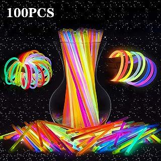 comprar comparacion LeeHur - Paquete de 100 barras/pulseras fluorescentes para fiestas, partidos, etc, colores surtidos