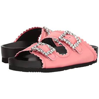 Suecomma Bonnie Jewel Buckles Flat Sandals (Pink) Women