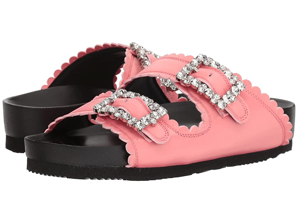 Suecomma Bonnie Jewel Buckles Flat Sandals (Pink) Women