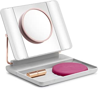 Spotlite HD Magnifying LED Lighted Makeup Vanity Mirror | Portable, Travel Friendly, Rechargeable with 1x 5x 10x Magnifications, by JUST OWN IT (50 SHADES)