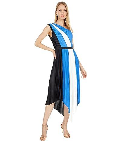 BCBGMAXAZRIA Pleated One Shoulder Dress
