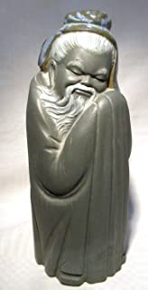 Lladro Tall Chinese Porcelain Man (Gres Finish) 2056