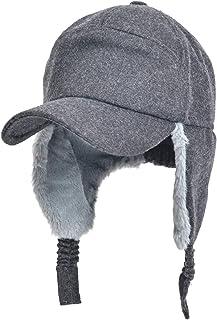 56e275c4314f3 Unisex Winter Warm Faux Fur Lined Earflap Bomber Hats Aviator Russian  Ushanka Trapper Winter Hat Baseball