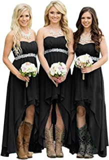 Best black strapless bridesmaid dresses Reviews