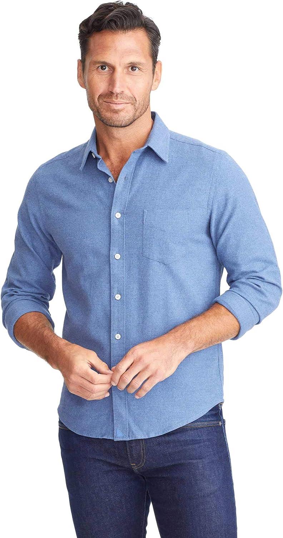 UNTUCKit Sherwood Mid Blue - Untucked Shirt for Men, Long