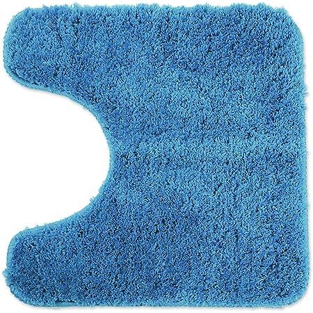 WohnDirect Tapis de Bain Bleu Clair • Sets modulables • Antidérapant, Absorbant et Doux• découpe WC, 45x45cm