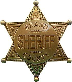 Denix Estrella de Sheriff Grand County latón colores Cowboy Western