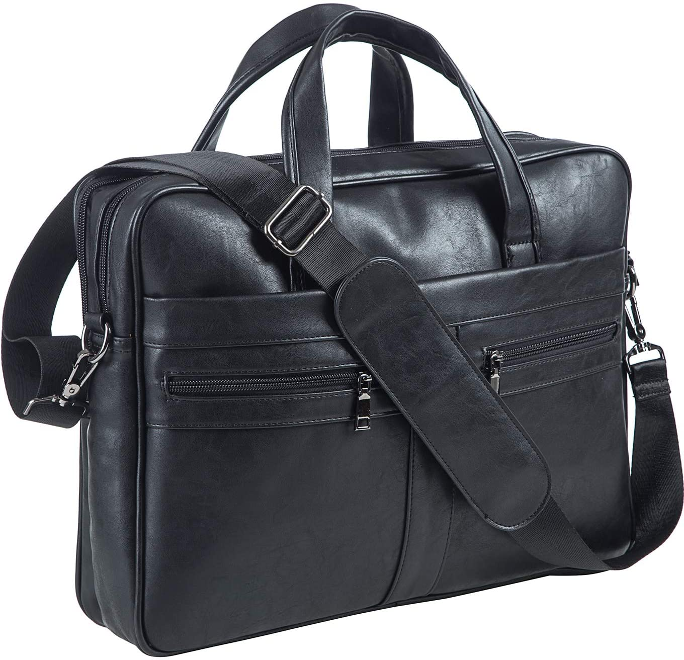 Men's Leather Messenger Bag 17.3 Indefinitely Inches Laptop Busine Briefcase Direct store
