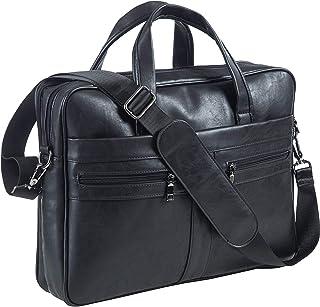 کیف چرم مسنجر مردانه ، کیف شانه مردانه کیف دستی دستی کیف دستی 15.6 اینچی (مشکی)
