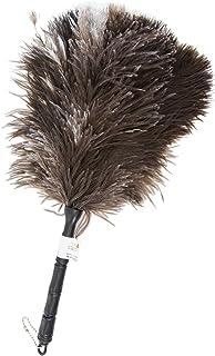 ESCI 【日本製】小さくてもオーストリッチ羽毛の手造り毛ばたき! ダッシュボードやメーターまわり等の車内お掃除に最適! 全長約40cm ブロンディン毛ケバタキ M27 M-27