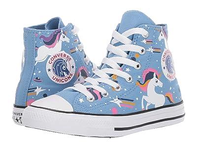 Converse Kids Chuck Taylor All-Star Unicorns Hi (Little Kid/Big Kid) (Light Blue/Black/White) Girls Shoes