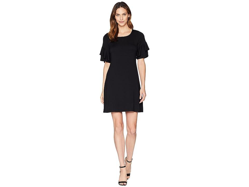 Karen Kane Ruffle Sleeve Dress (Black) Women