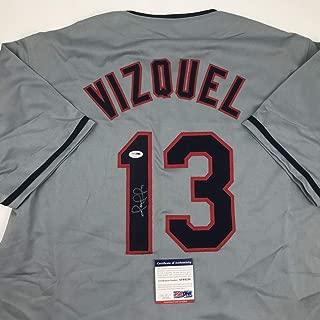 omar vizquel autographed baseball