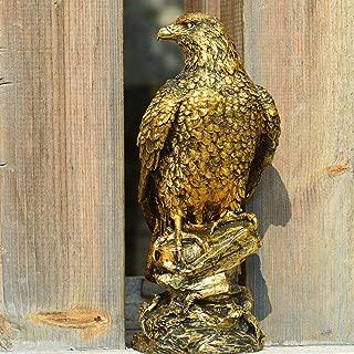 CCWDRZ Estatua de Resina Estatua de águila Ornamento Decorativo Accesorios de Escenario Hogar Oficina Tienda Escritorio Jardín al Aire Libre Decoración Regalo de cumpleaños, Color Bronce