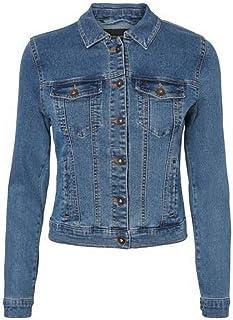 Vero Moda Women's Vmhot SOYA Ls Denim Jacket Mix Noos