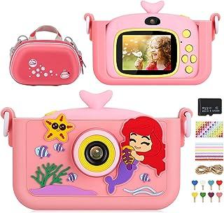 Luclay Cámara Digital para Niños, Selfie Video Cámara Infantil 2.0 Inch 20MP 1080P HD, 32GB TF Tarjeta, Estuche para la Ca...