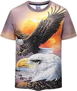 UGGKA US Men's 3D Printed Short Sleeve O-Neck Youth & Adult T-Shirt