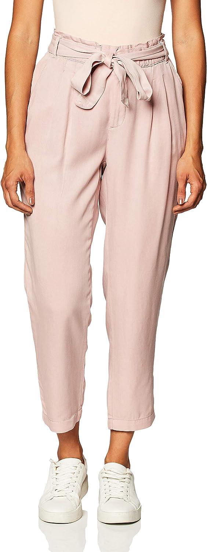 Amazon Brand - Daily Ritual Women's Lyocell Paper Bag-Waist Pant