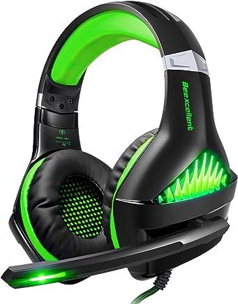 Cuffie Gaming per PS4,ShinePick Cuffie da Gioco con 3.5mm Jack LED e Microfono Insonorizzato ,Bass Stereo Audio Surround Cuffie da Gaming per Xbox One / Xbox One S / Nintendo Switch /PC/ Laptop(Verde) - Trova i prezzi più bassi