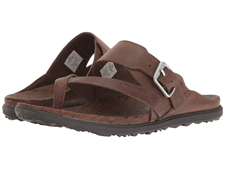 Merrell Around Town Thong Buckle (Brown) Women