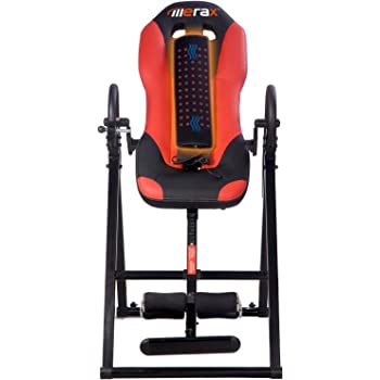 Merax MS034685JAA Vibration Massage & Heat Comfort Inversion Table with Ultra-Thick Back Support