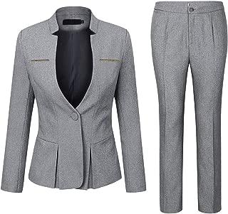 Women's Elegant Business 2 Piece Office Lady Suit Set Work Blazer Pant