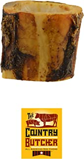 The Country Butcher Meaty Beef Dog Bones, Made in USA, Naturally Marrow Filled Dog Chews, Aggressive Chewer...