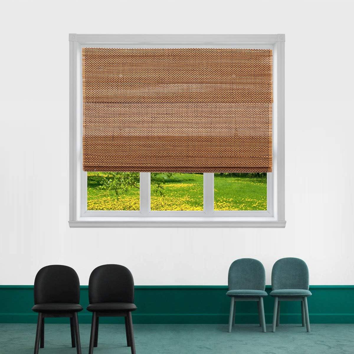TJ GLOBAL Cordless Bamboo Award-winning store OFFer Roman Window Sun Shade Blind Light Fi
