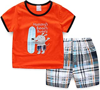 8a401a1342b47 子供服 キッズ パジャマ ベビー 男の子 女の子 赤ちゃん 服 上下セット 半袖 Tシャツ 半ズボン
