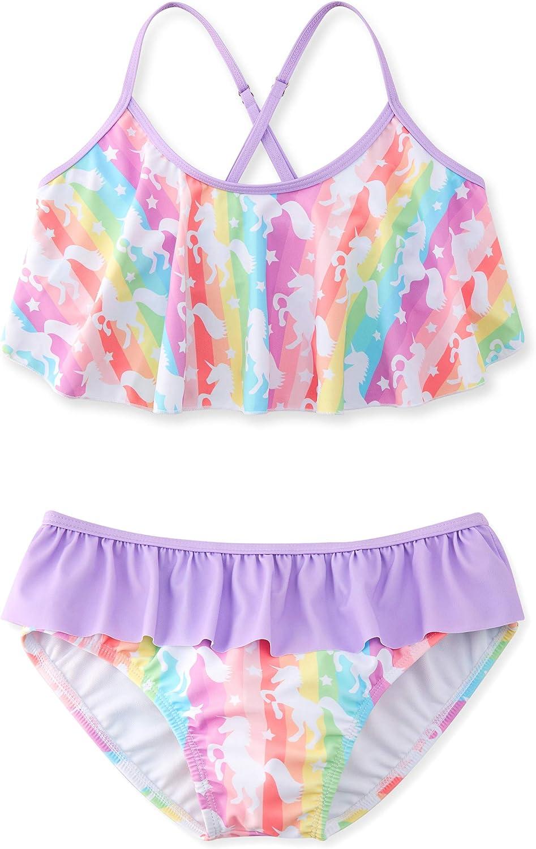 Adolife Bikini Swimsuits for Houston Mall Max 55% OFF Girls Ruffle Two-Piece Falbala Bath