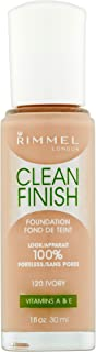 Rimmel Clean Finish Foundation, Ivory, 1 Fluid Ounce