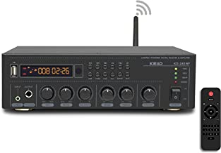KEiiD WiFi & Bluetooth 5.0 Stereo Digital Amplifier Receiver for Home Audio BGM Music System, MUZO App Control Multi-Room ...