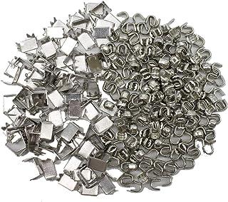 YaHoGa 300 pcs #5 Zipper Stops Bottom Stops Top Stops for Zipper Repair Zipper Replacement Silver
