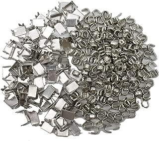 YaHoGa 300 pcs #5 Silver Zipper Bottom Stops Top Stops for Zipper Repair (Silver)