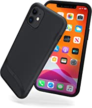 Snugg iPhone 11 (2019) Case - Slim Cover Protective Pulse Series Silicone Shockproof - Blackest Black