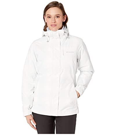 Columbia Whirlibird IV Interchange Jacket (White/Simple Lines Print) Women