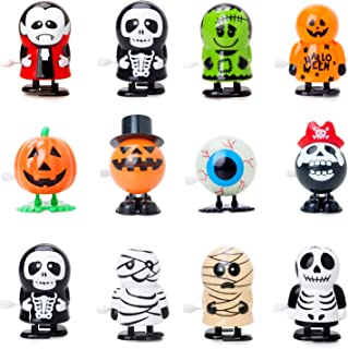 Bravo Sport 12 Pack Halloween Wind Up Toys, Jumping and Walking Clockwork Toys, Halloween Party Favors Gift Goody Bag Fill...