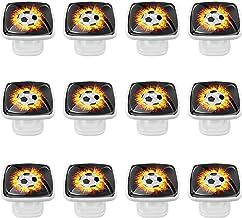 12 Pack Ronde Keukenkast Knoppen Trekt (1,18 Diameter) - Voetbalvuur - Dressoir Lade/Deur Hardware - DIY Patroon Maatwerk