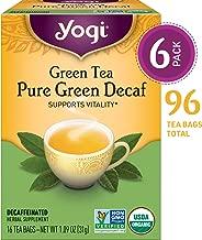 Yogi Tea - Green Tea Pure Green Decaf - Supports Vitality - 6 Pack, 96 Tea Bags Total