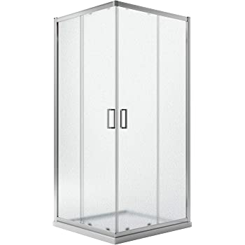 Idralite Box Mampara de Ducha Rectangular 80x100 H185 Impreso C 5mm Mod. Ready: Amazon.es: Hogar