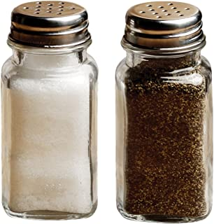 Circleware 66792 Yorkshire Salt and Pepper Shakers, 2-Piece Set, Home and Kitchen Utensils, 2.85 oz, Plain