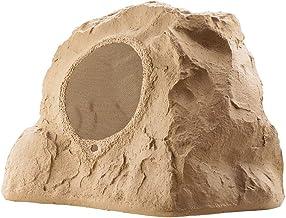 "OSD Audio 8"" High Fidelity Outdoor Rock Speaker Durable Weather-Resistant Design, Single  - Sandstone Brown RS850"