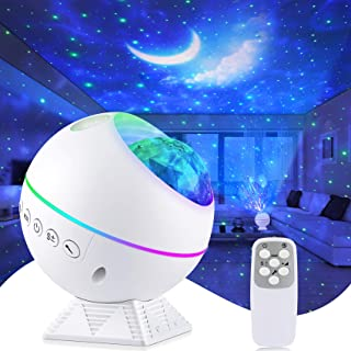 Tobeape Portable Star Projector, Night Light Projector with Remote Control, LED Nebula Cloud, Moon, Super Silent, 360° Mag...
